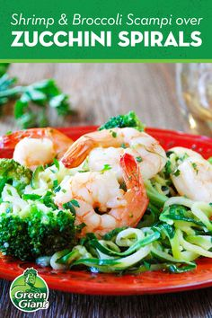 Ditch the regular pasta, and try shrimp scampi with Green Giant Veggie Spirals® Zucchini. Add some broccoli and a pinch of salt, and you've got yourself a dinner. Zucchini Noodle Recipes, Zoodle Recipes, Fish Recipes, Vegetable Recipes, Seafood Recipes, Dinner Recipes, Shrimp Dishes, Fish Dishes, Veggie Dishes
