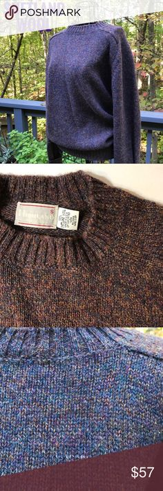 SCOTTISH HIGHLANDS SWEATER From the Home of the Highlanders, 100% Shetland Wool. Marvelous multicolored dark Purple/ Indigo sweater. Excellent Used Condition. Outdoor and indoor close up shots to show the beauty of this yarn. Imported from Scotland. Warm and toasty in the coldest Arctic blast. You gotta have it😘😘 Sweaters Crew & Scoop Necks