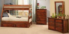 """Prescott Twin over Full Bunk Bed 60""""W x 78""""L x 61""""H"""