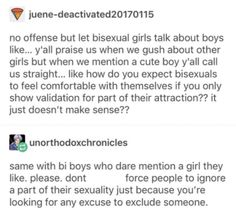 There is so much hate towards bisexual people that comes from within the lgbt community. Fellow gays, please stop being so hateful and judgemental towards our bi brethren. Erich Von Stroheim, Lgbt Memes, Les Sentiments, Lgbt Community, My Tumblr, Faith In Humanity, In This World, Equality, Just In Case