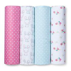 Circo™ 4pk Flannel Receiving Blankets - Sweet Ruffles : Target