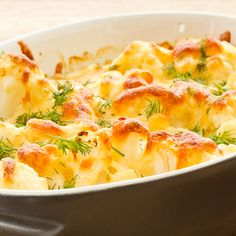 A simple and decadent casserole recipe that will impress your family. Cauliflower is a cruciferous vegetables, a family of veggies that have been shown to prevent cancer.. Baked Cauliflower in Cheese Sauce Recipe from Grandmothers Kitchen.