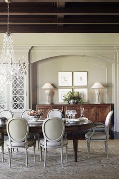 Classic dining room by Julie Charbonneau #MakeLivingAnArt