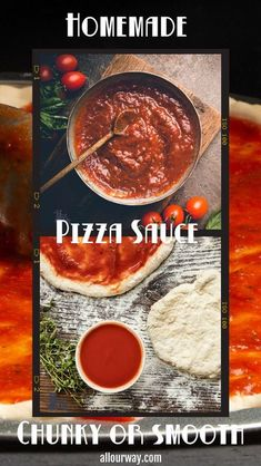 5 reviews · 40 minutes · Serves 6 · A rich thick pizza sauce that is easy to make, uses quality ingredients and is full of tomato and fresh herb flavor. This homemade sauce is from scratch from high grade tomatoes. This is a winning… More Pizza Recipes, Sauce Recipes, Cooking Recipes, Easy Recipes, Catering Recipes, Homemade Seasonings, Homemade Sauce, Homemade Food, Vegan Sauces