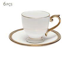 Jogo de Xícaras Para Chá com Pires Paddy - 200ml