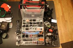 Ideas on Organizing my Camera Gear    GoPro Tackle Box by m2 Photo, via Flickr