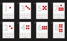 Gebruik de kleikaarten om getalbeeld, dobbelsteenpatronen en koppelen van hoeveelheden aan getallen te oefenen. Download de kleikaarten voor de rekenhoek in de kleuterklas.