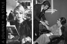 """La couverture de Voyage dans le style, et Oum Kalsoum est indiqué dans le livre d'arriver à Heathrow en 1967, où elle a rencontré le célèbre acteur français Jean-Claude Pascal. Arborant sa signature lunettes de soleil noires et ruche, la """"Star de l'Est"""" respire son glamour classique habituelle dans une abaya Bejeweled avec bordure en dentelle et un manteau de fourrure à long drapé sur ses épaules."""