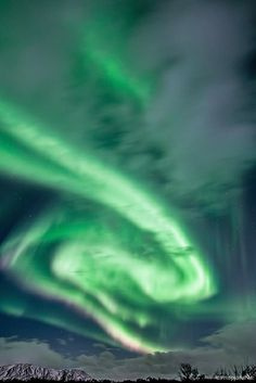 Aurora In The Clouds - Iceland