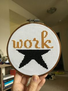 WORK  Hamilton Musical Cross Stitch by TheBoredStitcher on Etsy