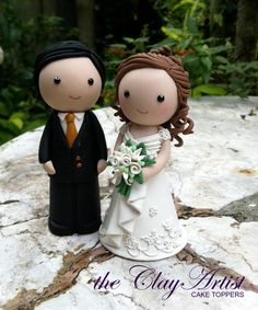 Polymer clay cake toppers
