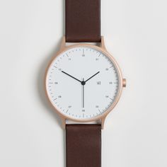 Instrmnt 01 is the first watch from Glasgow based, multi-disciplinary team Instrmnt. The watch takes inspiration from the industrial design of the mid 20th century and the desire for a watch that paired high quality Swiss components with simple, utilitarian design. #watches #rosegold #design