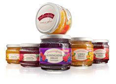 Saarioinen Oy / Marmalade and jam jars / Hillo- ja marmeladipurkit