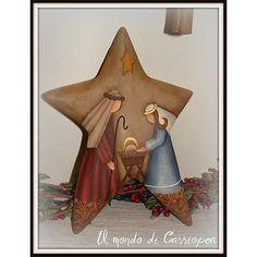 Nativity Scene on Star Christmas Nativity Scene, Christmas Wood, Christmas Projects, Nativity Scenes, Nativity Star, Christmas Signs, Country Christmas, Christmas Images, Christmas Time