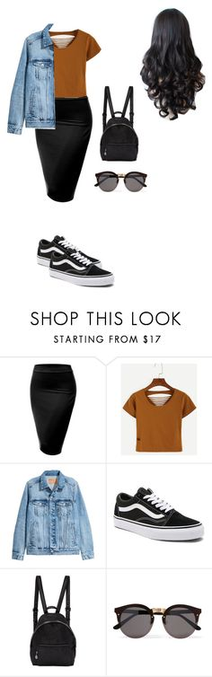 Untitled #68 by mayventu1999 on Polyvore featuring WithChic, J.TOMSON, Vans, STELLA McCARTNEY and Illesteva