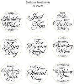 JB 09225 Birthday Sentiments