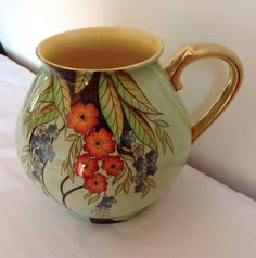 "Carlton Ware Lustre Enamels ""Pastoral"" Pattern Large Jug | eBay Antique China, Vintage China, Carlton Ware, Enamels, Luster, Vases, Antiques, Tableware, Pattern"