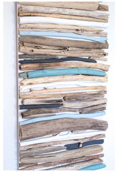 Driftwood Furniture, Painted Driftwood, Driftwood Wall Art, Driftwood Projects, Driftwood Ideas, Diy Dorm Decor, Diy Wall Decor, Art Decor, Seaside Art