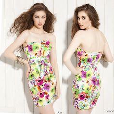 Korean Women Romantic Sexy Mini #Dress #Strapless #Floral Print Cocktail Party