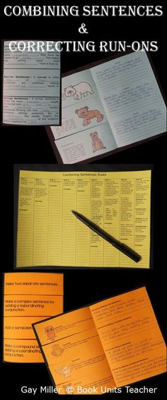 Free Foldable Organizers for Correcting Sentence Problems