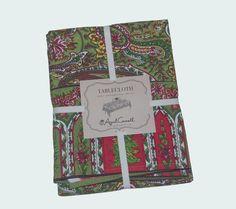 April Cornell Christmas Floral Paisley 100% Cotton Tablecloth NEW NWT #AprilCornell #christmastable