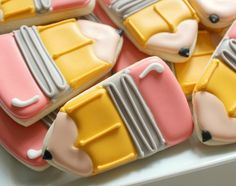 Chubby pencil cookies.