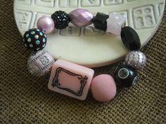 Pink Mahjong Bracelet - Jesse James Bracelet  - Mahjong Jewelry by Earmarksdesigns on Etsy