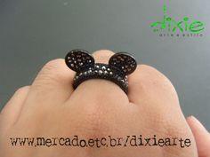 Anel Orelha Mickey    www.mercado.etc.br/dixiearte