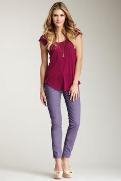 Ultimate Skinny Colored Jean by Calvin Klein Jeans on @HauteLook - love the purple skinny jeans!
