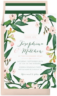 Floral Wreath by Robinson Paperie | Greenvelope.com