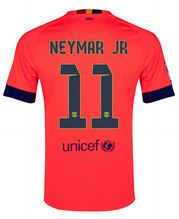 14-15 Football Shirt Barcelona Cheap Neymar JR #11 Away Pink Jersey [107]