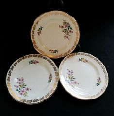 China Bowl, Bone China, Plate Stands, Side Plates, Free Delivery, Pink Flowers, Vines, Decorative Plates, Pottery