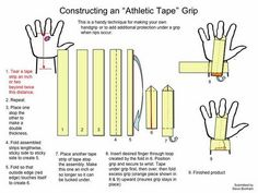 CrossFit Hand Care and homemade grip tapes