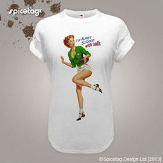 Ireland Tshirt Rugby Pin Up Girl Tshirt Sexy Vintage by Spicetag, £9.95