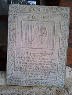 Vintage Plaque  Mother by Eklektikat on Etsy, $5.00