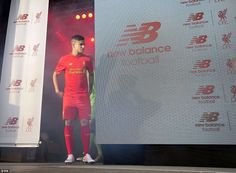 Coutinho at Liverpool FC's 2016/2017 home kit launch, 10 May 2016