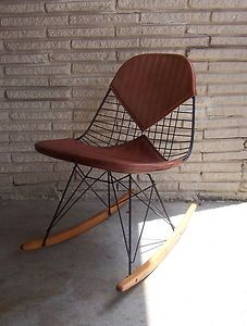 eames leather rocking chair