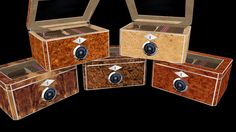 Large preview of 3D Model of Set of five humidors from Red Hawk Specialties.