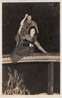 Kabuki Actors: A Couple on a Bridge
