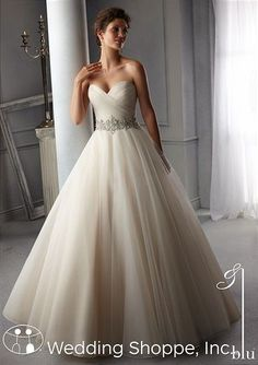 Affordable tulle ball gown by Mori Lee.