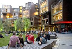 Courtyard in the award-winning Tietgen Student Hall (Tietgenkollegiet) in Copenhagen's Orestad district, a model of cohousing that could be applied in other contexts. Click image for link to full profile. Visit the slowottawa.ca boards >>  https://www.pinterest.com/slowottawa/