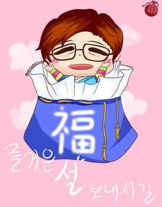 2015. 02 B1A4 신우 새해 팬아트
