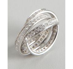 Cartier diamond and white gold 'Trinity' rolling rings