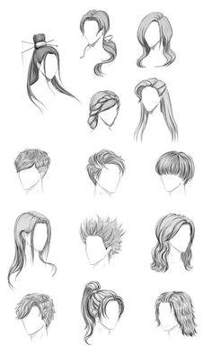 haar tekenen Hair by AdamaSto on DeviantArt - Cool Art Drawings, Pencil Art Drawings, Art Drawings Sketches, Hair Drawings, Drawing Hair Tutorial, Drawing Tips, Anime Tutorial, Dream Drawing, Girl Hair Drawing