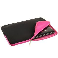 [USD2.27] [EUR2.07] [GBP1.64] Soft Sleeve Case Zipper Bag for 15 inch Laptop(Magenta)