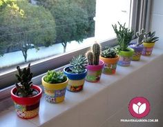 100 beautiful DIY pots and containers garden ideas – Trend NB – Cactus Succulents In Containers, Succulent Pots, Cacti And Succulents, Cactus Plants, Indoor Cactus, Plant Pots, Cactus Flower, Flower Pots, Flower Bookey