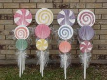 Candyland / Willy Wonka / Birthday School Indoor - Outdoor / Party Decorations