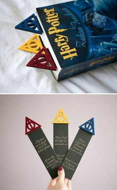 Harry Potter Bookmarks - Cute presents . - Harry Potter Bookmarks – Cute presents - Harry Potter Diy, Marque Page Harry Potter, Natal Do Harry Potter, Harry Potter Navidad, Hery Potter, Cadeau Harry Potter, Harry Potter Bricolage, Estilo Harry Potter, Harry Potter Weihnachten