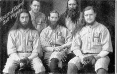 These bearded cultists were old baseball's answer to the Harlem Globetrotters Red Sox Baseball, Baseball Art, Baseball Players, Lost Pictures, Music Pictures, House Of David, Harlem Globetrotters, Red Beard, Baseball Pictures