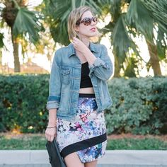 HOST PICK  Floral skirt Adorable floral, abstract skirt. High-waisted. Super fun, goes with everything! Few Moda Skirts Asymmetrical